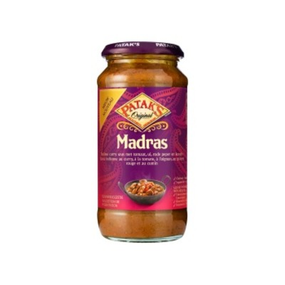 Pataks Madras curry saus