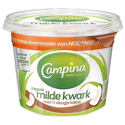 Campina Magere milde kwark kokos