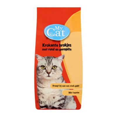 My Cat Krokante Brokjes met Rund en Gevogelte