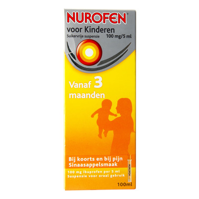 Nurofen Suikervrije suspensie voor kinderen