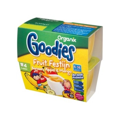 Organix Goodies fruitfestijn banaan,appel & mango