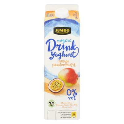 Huismerk Magere Drinkyoghurt Mango Passievrucht 0% Vet