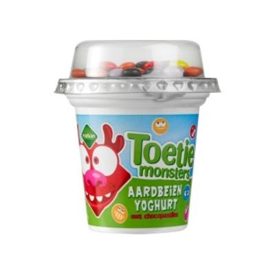 Melkan Toetiemonsters yoghurt pofrijst
