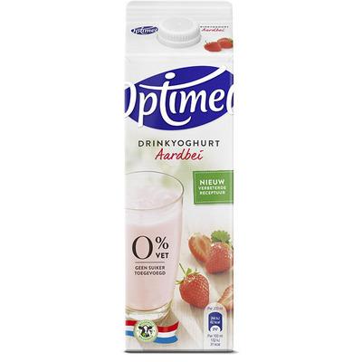 Optimel Drinkyoghurt aardbei 0% vet