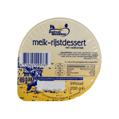 Zuivelmeester Melk-rijstdessert
