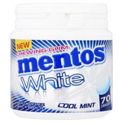 Mentos Gum White Green Mint Sugarfree 70 Stuks