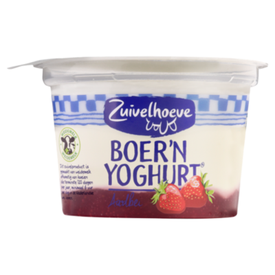 Zuivelhoeve Boer'n yoghurt aardbei