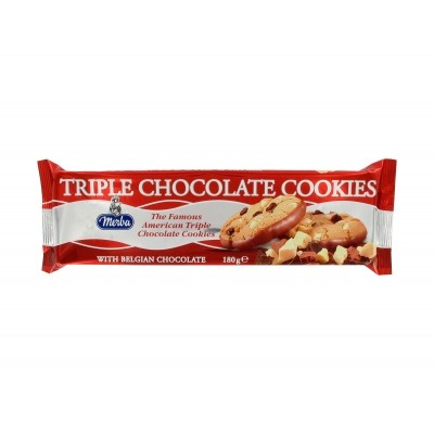 Merba Triple chocolate cookies