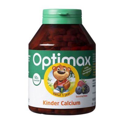 Optimax Kinder calcium kauwtabletten