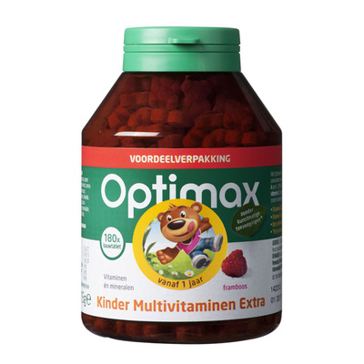 Optimax Kinder multi extra framboos