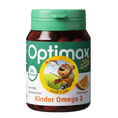 Optimax Kinder omega-3 kauwtabletten