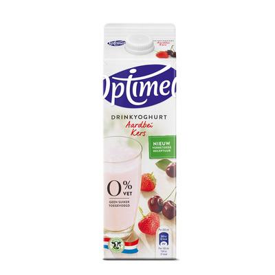 Optimel Drinkyoghurt aardbei kers
