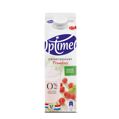 Optimel Drinkyoghurt framboos 0% vet