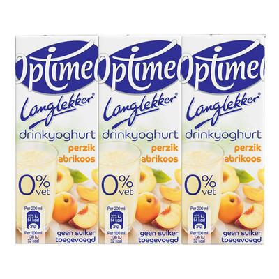 Optimel Langlekker drinkyoghurt perzik-abrikoos
