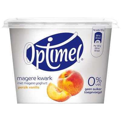 Optimel Kwark 0% vet perzik-vanille