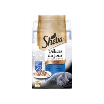 Sheba Delices in saus met zalm/tonijn/kabeljauw