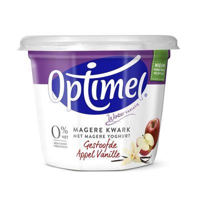 Optimel Magere kwark gestoofde appel vanille