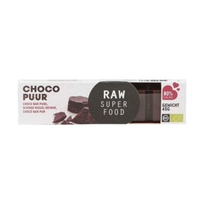 Raw Superfood Choco reep puur