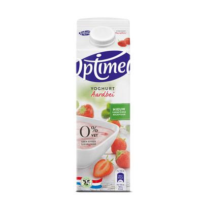 Optimel Magere yoghurt aardbei 0% vet