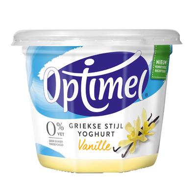 Optimel Magere Griekse stijl yoghurt vanille