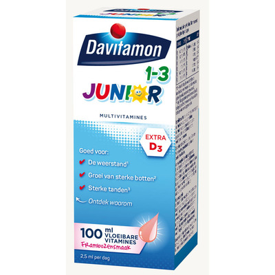 Davitamon Junior multivitamines framboos 1-3 jaar