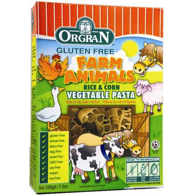Orgran Rijst en mais groentepasta farm animals