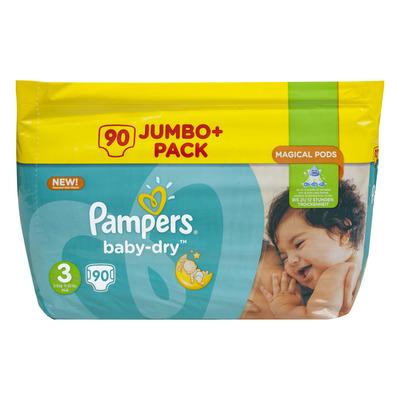 Pampers Baby-dry luiers maat 3 (midi) 4-9kg