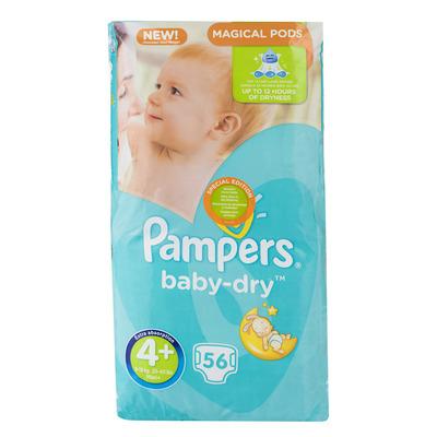 Pampers Baby-dry luiers maat 4+ (maxi+) 9-18kg