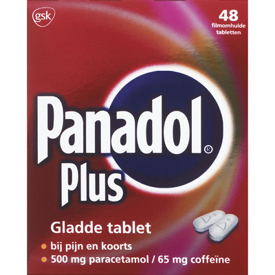 Panadol Plus paracetamol/coffeïne 500/65 mg