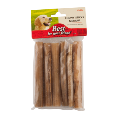 Best For Your Friend Chewy sticks medium, 6 stuks
