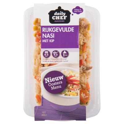 Huismerk Rijkgevulde nasi met kip