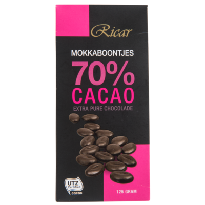 Ricar Moccaboontjes 70% cacao