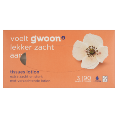 G'woon Tissues 3-laags lotion (PLUS huismerk)