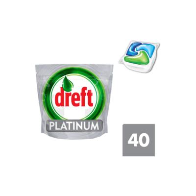 Dreft Platinum Vaatwastabletten Regular 40 Capsules