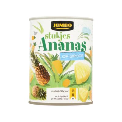 Huismerk Ananasstukjes op Siroop
