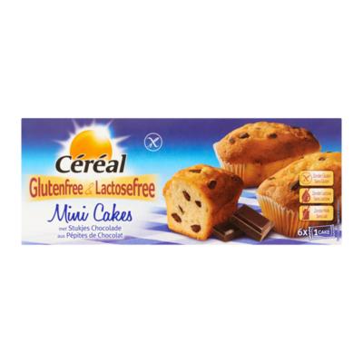 Céréal Mini Cakes met Stukjes Chocolade Glutenvrij & Lactosevrij 6 Stuks