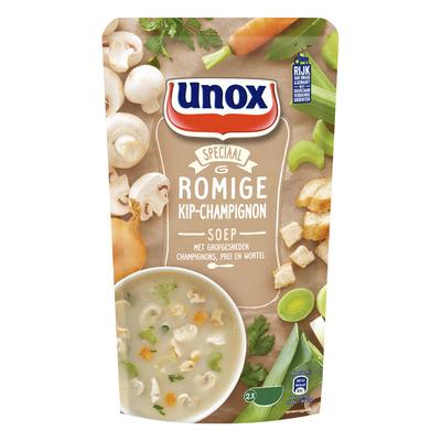 Unox Soep in zak kip champignonsoep