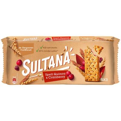 Sultana Fruitbiscuit spelt quinoa-cranberry
