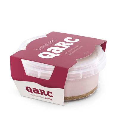 Qarc Frambozen met koekjesbodem