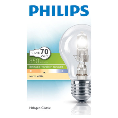 Philips Ecoclassic 30 helder 53W grote fitting