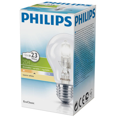 Philips Ecoclassic halogeenlamp 18W