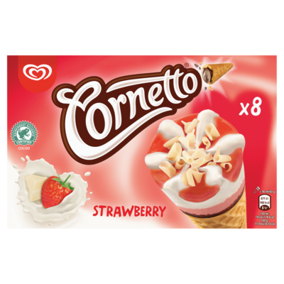Ola Cornetto aardbei 8 stuks