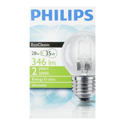 Philips Ecolamp helder kogel 28W grote fitting