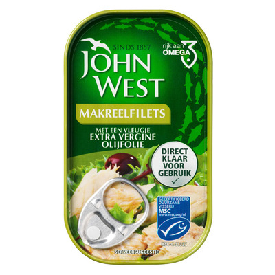 John West Makreelfilet extra vergine olijfolie MSC
