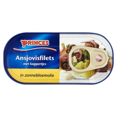 Princes Ansjovisfilets met Kappertjes in Zonnebloemolie
