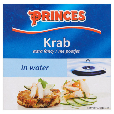 Princes Krab in water