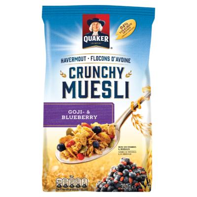 Quaker Havermout Crunchy Muesli Granen Goji- & Blueberry 350g