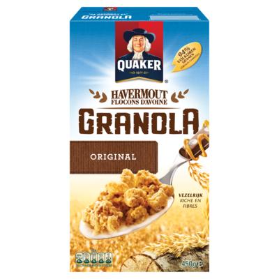 Quaker Havermout Granola Granen Original 450g