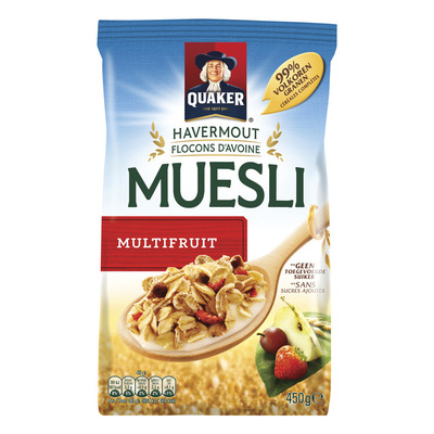 Quaker Havermout muesli multifruit