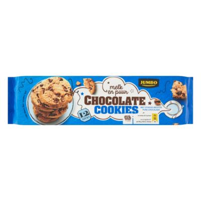 Jumbo Chocolate Cookies Melk en Puur 12 Stuks